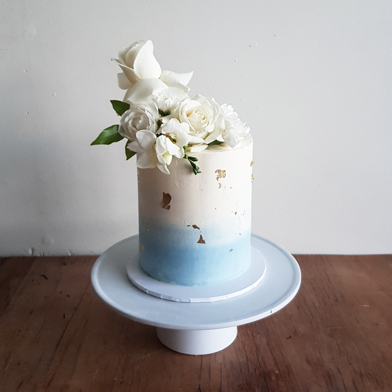 Ombre Buttercream And Flowers