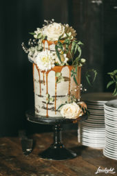 2 Tier Wedding Cake With Caramel Drip