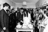 Black And White Wedding Cake Trio
