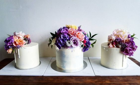 Floral cake trio