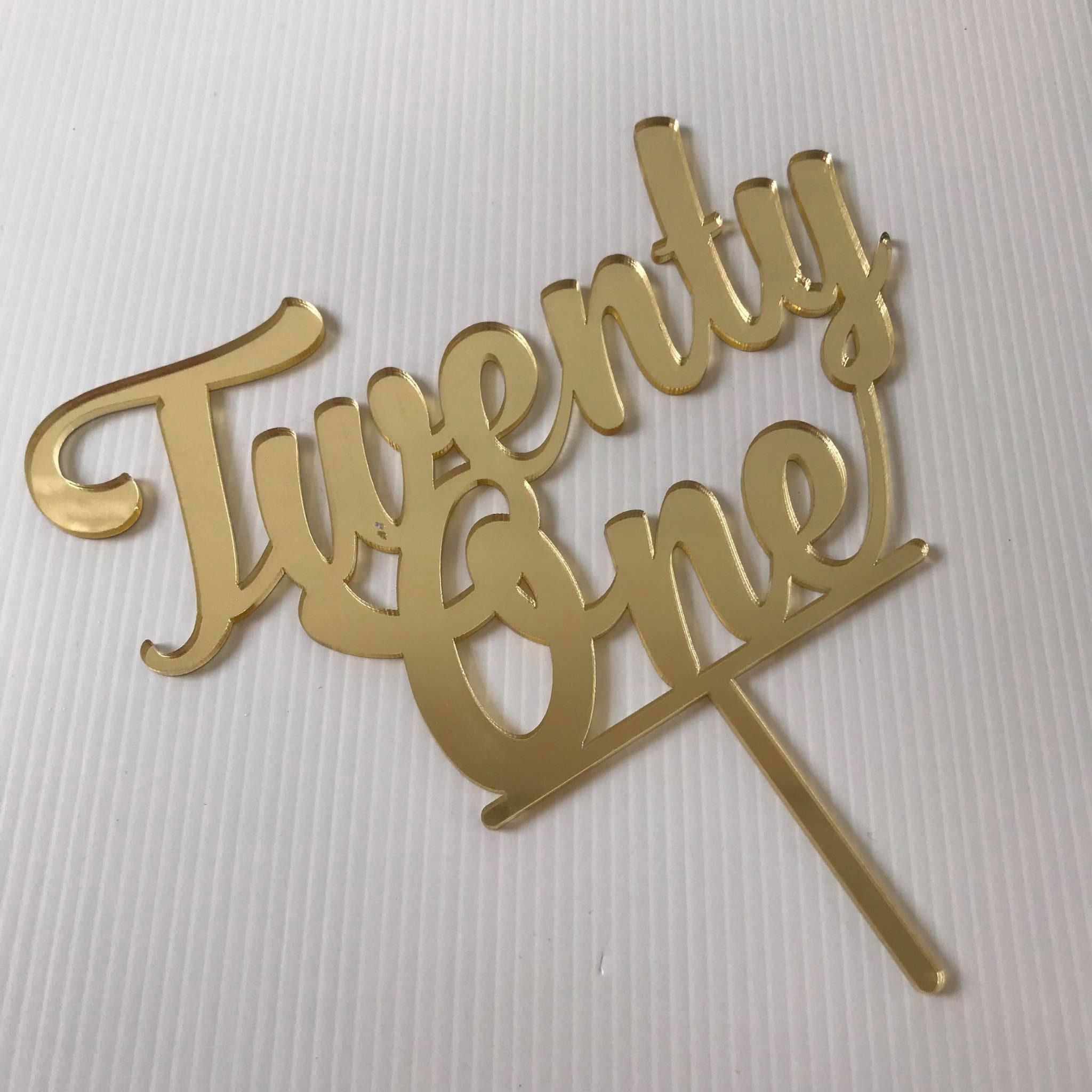 Acrylic Twenty One Topper