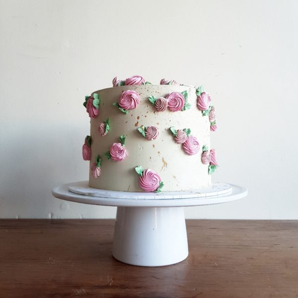 Party Cake, Rose Buttercream, The Cake Eating Co, Christchurch