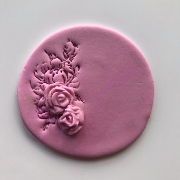 Embossed Rose Cookie, The Cake Eating Co, Christchurch
