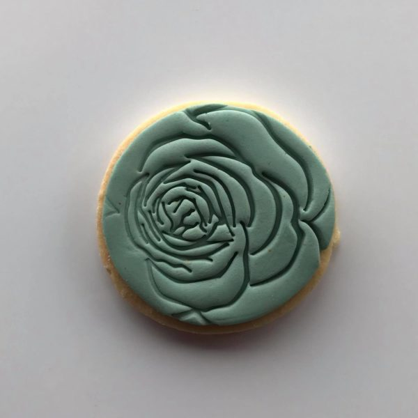 Rose imprint shortbread cookie, The Cake Eating Co, Christchurch